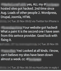 twitter exchange from hacked designers
