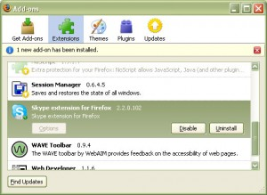 Disable Skype FireFox Addon/Extension